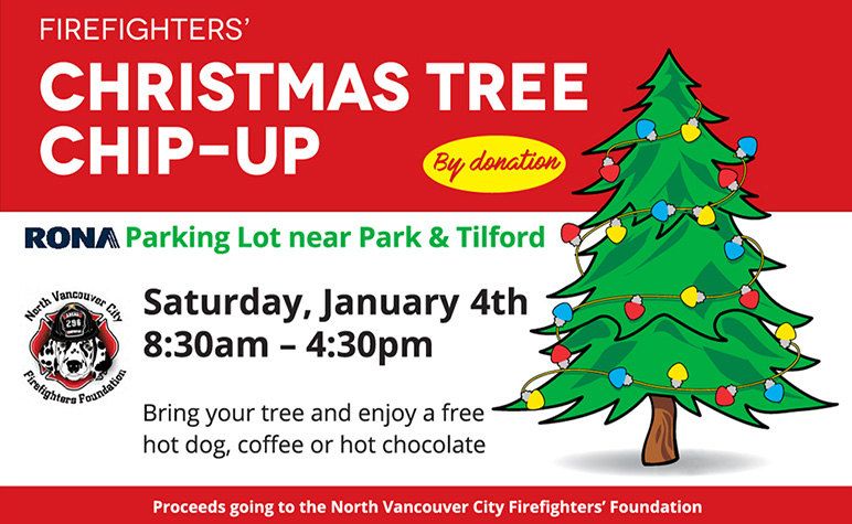 North Vancouver City Firefighters Christmas Tree Chip-Up 2020