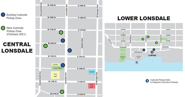 Lonsdale area curbside pickup parking maps