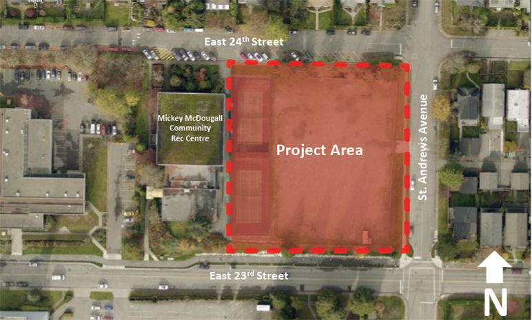North Vancouver Lawn bowling relocation project area