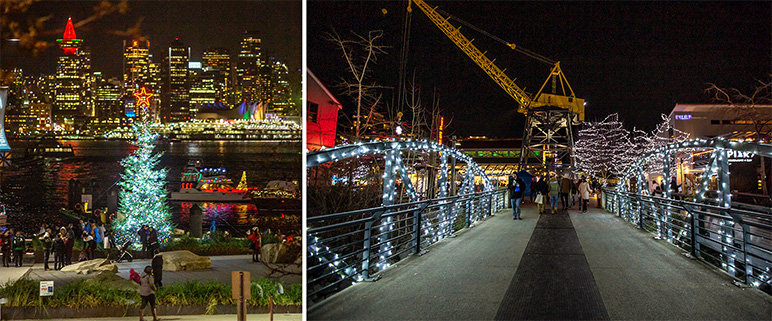 City of North Vancouver Waterfront Christmas Lights