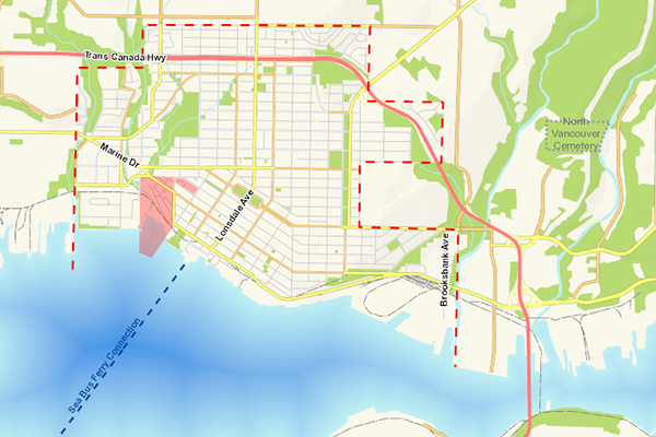 North Vancouver Map Map of the City